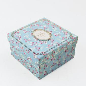 Flower Custom Logo Paper Bottom Box
