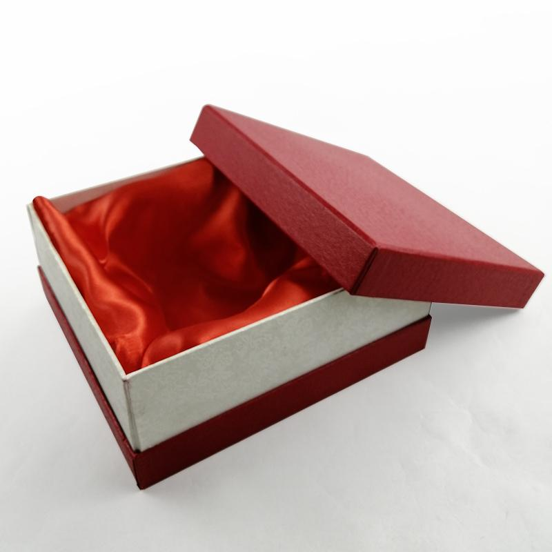 Red Silk Cloth Insert Lid and Base Box