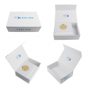 Cosmetic white magnetic box