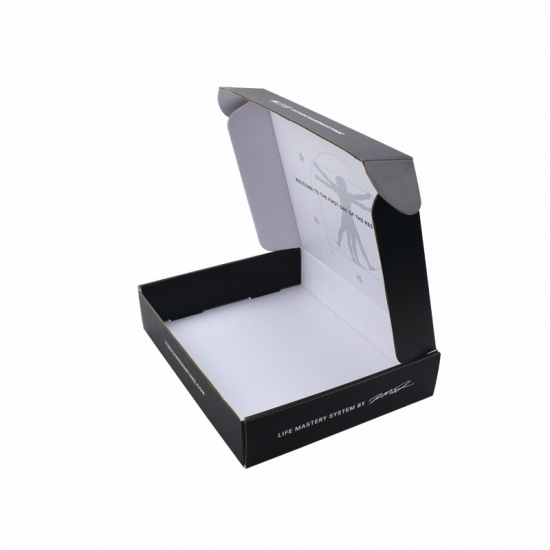 Surface printed touch film purple custom mailing boxes