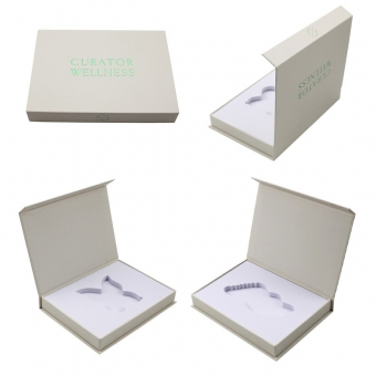 Decorative Flip Top Box Special paper hot green gold book box