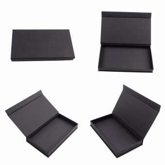 Custom simple small size  black non-logo book shape box