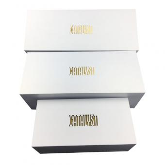 White Foldable Boxes With Lids