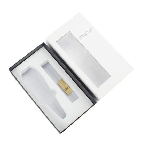 Rectangle small size cosmetic box with clear lids and EVA insert