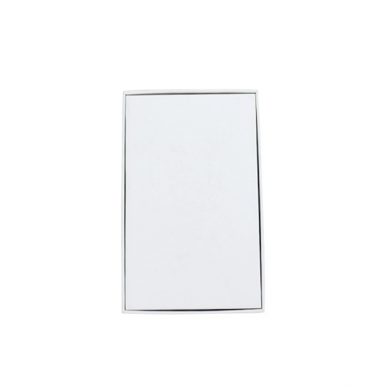 rectangle shape white gloss gift box with graphic lid