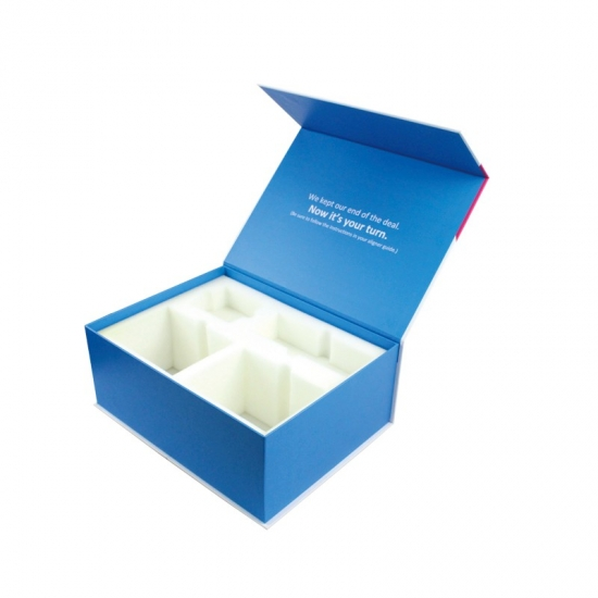 paper cardboard packaging magnetic box with EVA foam