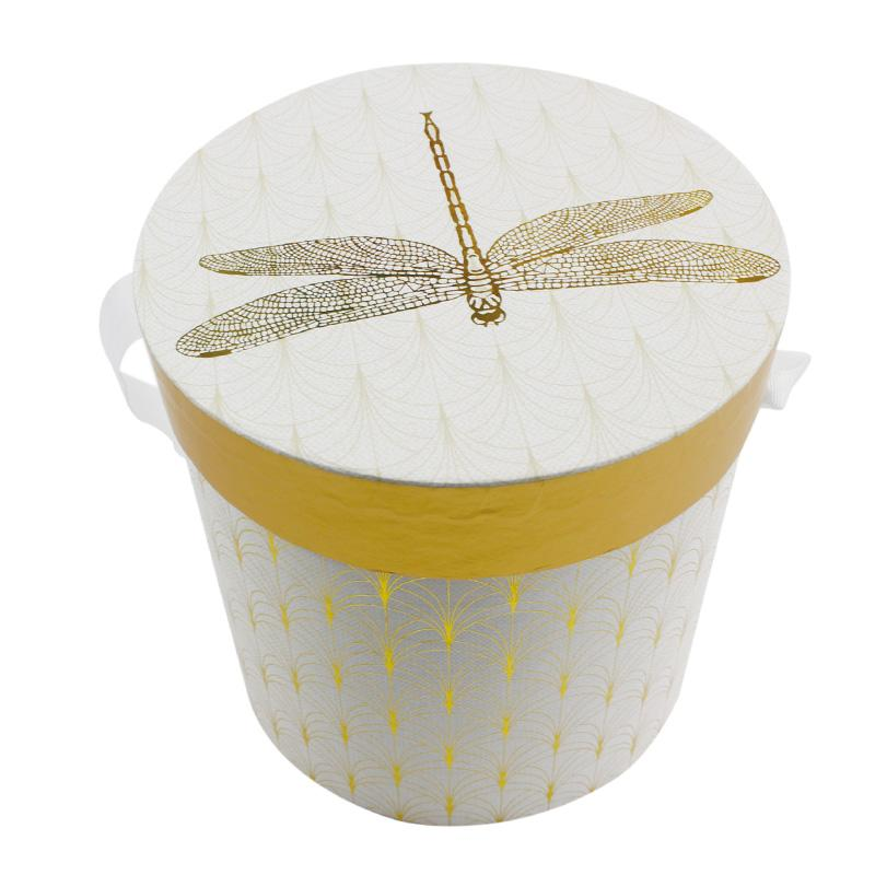 large decorative gorgeous pattern round gift box with lid